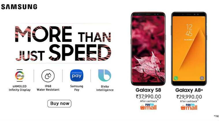Samsung Galaxy S8, Galaxy A8+ cashback offer on Paytm Mall: Here are the details