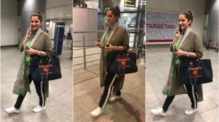 Mommy to be Sania Mirza back home in Hyderabad after Dubai trip