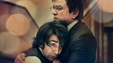 Sanju poster: Paresh Rawal and Ranbir Kapoor bring to life the essence of a father-sonrelationship