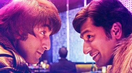 Sanju poster: Vicky Kaushal is channelling retro vibes as Ranbir Kapoor's 'best friend'
