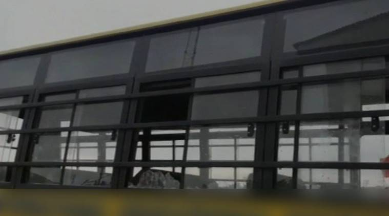 J-K: Outrage in Valley after street protesters stone school bus, Mehbooba Mufti assures action