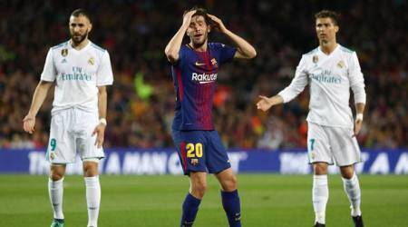 Sergi Roberto, Sergi Roberto Barcelona, Barcelona Sergi Roberto, La Liga, sports news, football, Indian Express