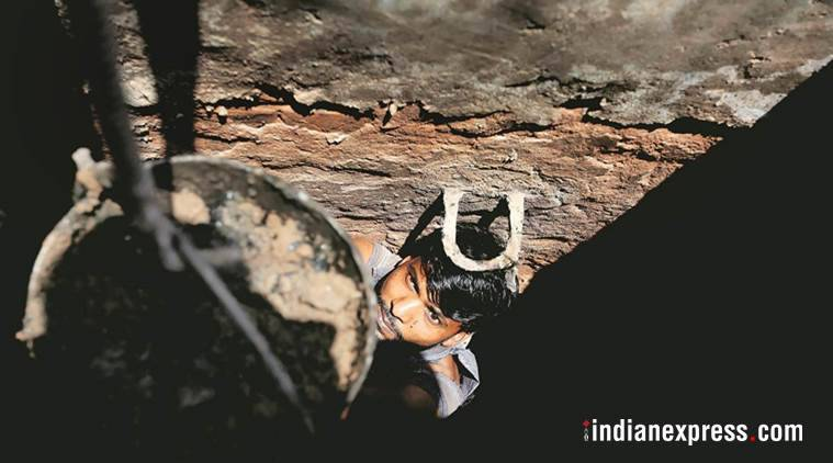 sewer deaths, india sewer deaths, sewer death cases, sewage workers deaths, sewage workers safety, manual scavenging, sewage worker death, indian sewage system, sewage treatment plant, sewage cleaners in delhi, indian express