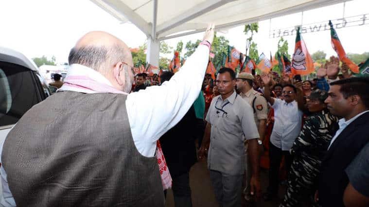 Amit Shah, Amit Shah Karnataka, Karnataka government, Indian national congress, Congress, JD(S), narendra Modi, Rahul Gandhi, PM Modi, Bharatiya janata Party, HD Kumaraswamy, Karnataka House, indian express news