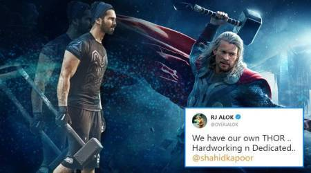 Twitterati spotted Shahid Kapoor working out with a hammer and did the obvious – 'transformed' him into Thor