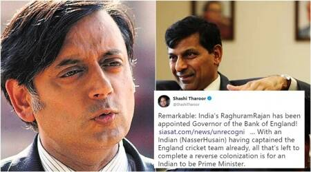 'Taken in by fake news': Shashi Tharoor clarifies after tweeting about Raghuram Rajan's 'appointment as Governor of the Bank ofEngland'