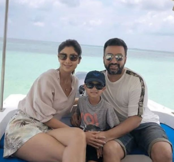 shilpa shetty family holiday maldives