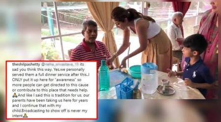 Shilpa Shetty Kundra slams troll who mocked her for distributing a 'cheap' fruit at old-age home