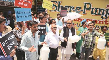 Shimla water crisis: High Court orders to cut off water supply to hotels with pending dues, protests by locals continue