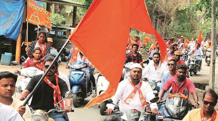 palghar bypoll, shiv sena bjp clash, palghar lok sabha bypoll, shiv sena bike rally, shrinivas wanaga, shiv sena, maharashtra bjp, maharashtra north indian population, indian express, india news