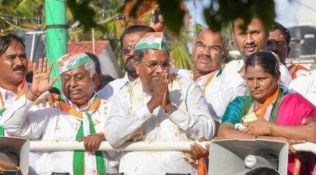 Karnataka Chief Minister Siddaramaiah at a road show in Karnataka. (File)