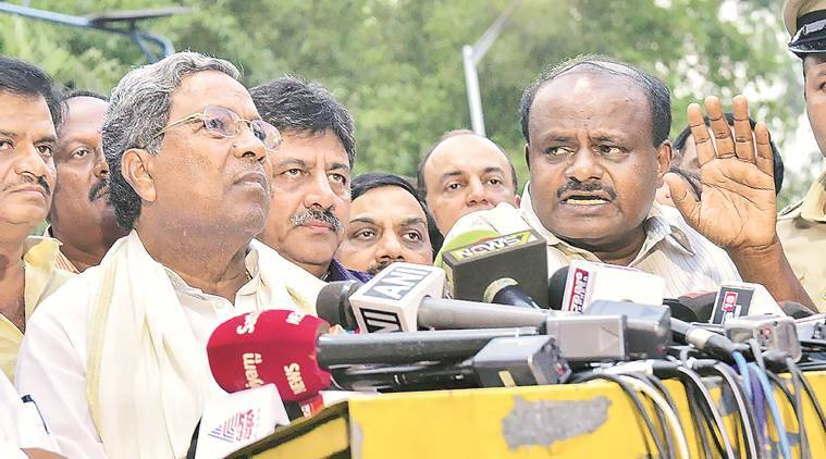 Karnataka election 2018: Congress-JD(S) waves Goa at Governor