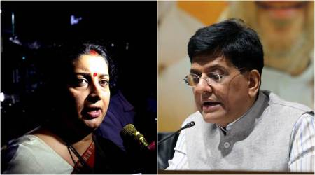 Cabinet reshuffle: Smriti Irani removed as I&B minister, Piyush Goyal gets finance till Jaitley recovers