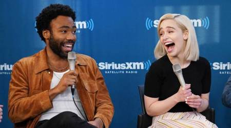 Donald Glover and Emilia Clarke