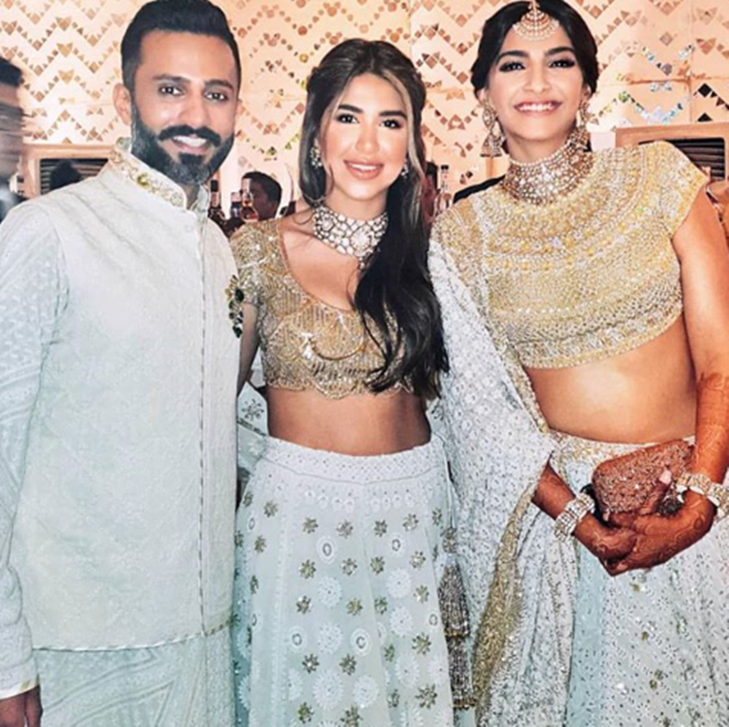sonam anand ahuja with frnd