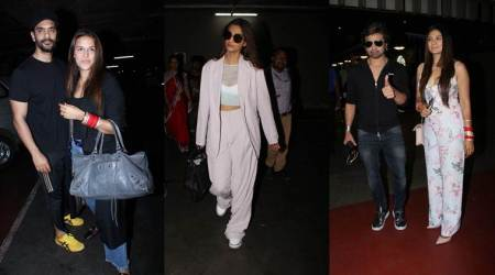 Newlyweds Neha Dhupia-Angad Bedi, Himesh Reshammiya-Sonia Kapoor and Sonam Kapoor are back in town