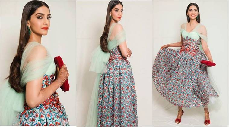 Sonam Kapoor, Sonam Kapoor Cannes 2018, Sonam Kapoor Cannes looks, Sonam Kapoor Cannes dresses, Sonam Kapoor latest photos, Sonam Kapoor wedding, Sonam Kapoor fashion, Sonam Kapoor Delpozo, indian express, indian express news