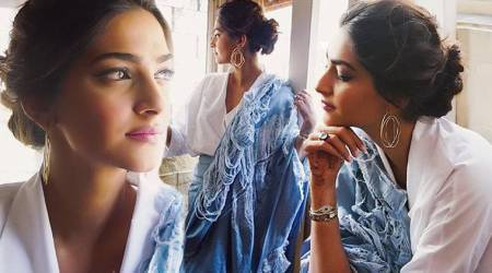 Veere Di Wedding promotions: Sonam Kapoor's distressed denim sari is a head-turner