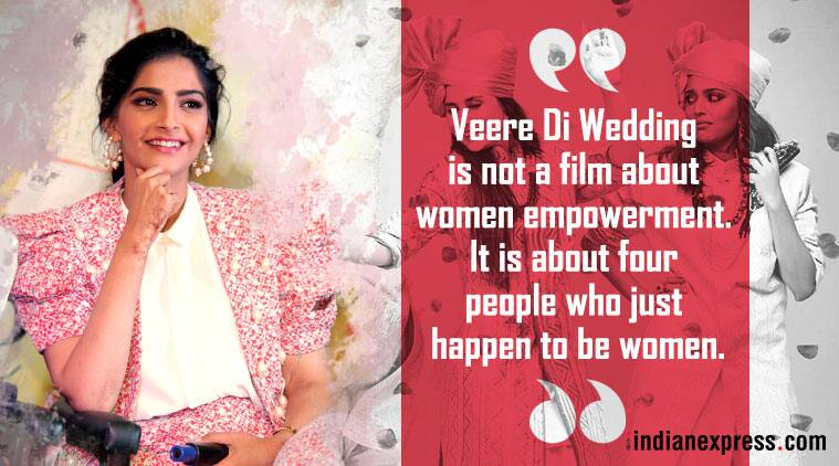 sonam kapoor talks about veere di wedding