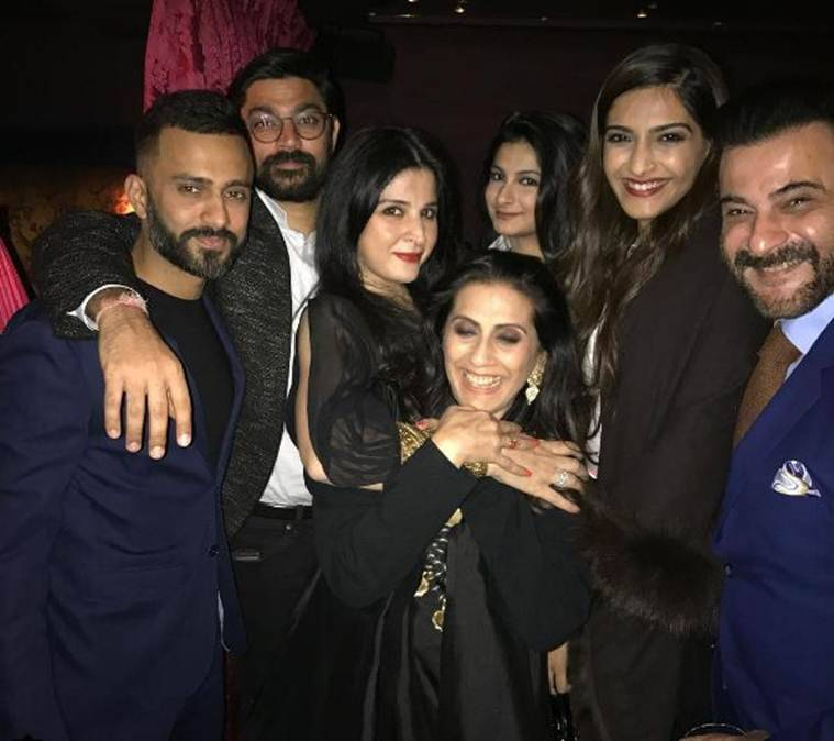 anand ahuja with Sonam kapoor family