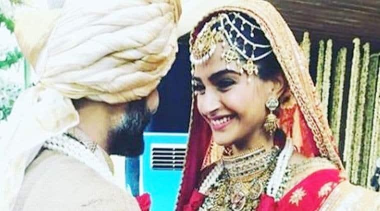 sonam kapoor anand ahuja wedding reception photos