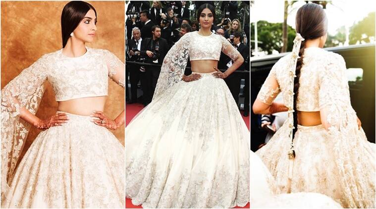 Sonam Kapoor, Sonam Kapoor wedding, Sonam Kapoor at Cannes, Sonam Kapoor at Cannes 2018, Sonam Kapoor Cannes 2018 pics, Sonam Kapoor 2018 Ralph and Russo pics, Indian express, Indian express news