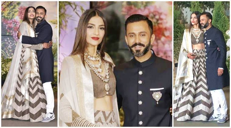 Image result for sonam kapoor and anand ahuja reception