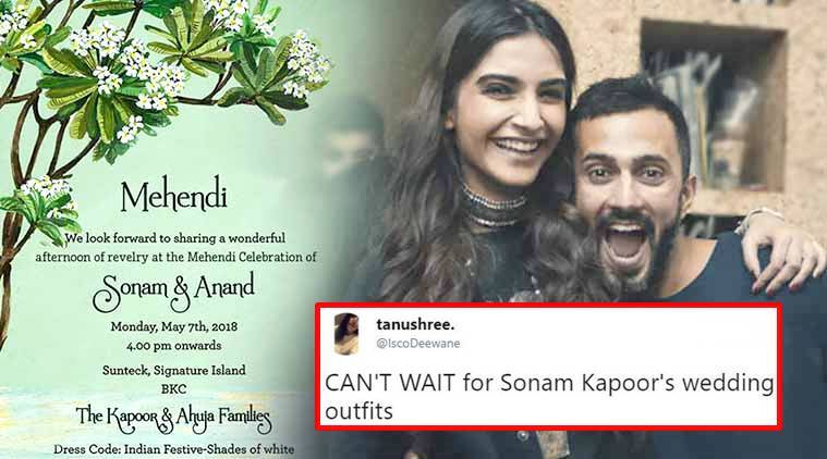 Sonam KapoorAnand Ahuja wedding card Netizens find it as elegant