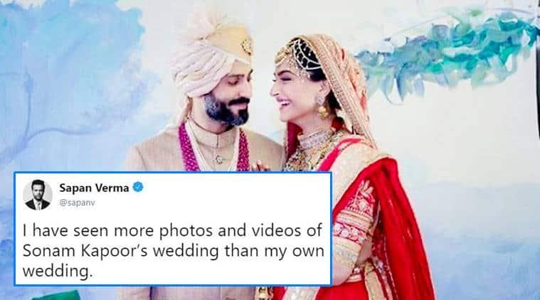 sonam kapoor marriage, sonam kapoor, sonam, sonam kapoor wedding, anand ahuja, sonam anand, sonam kapoor photo, sonam photos, sonam kapoor memes, indian express, indian express news
