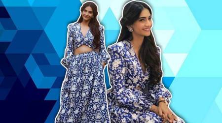 'Veere Di Wedding' promotions: Sonam Kapoor's floral blue outfit is perfect for summers