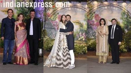 sonam kapoor and anand ahuja at the reception