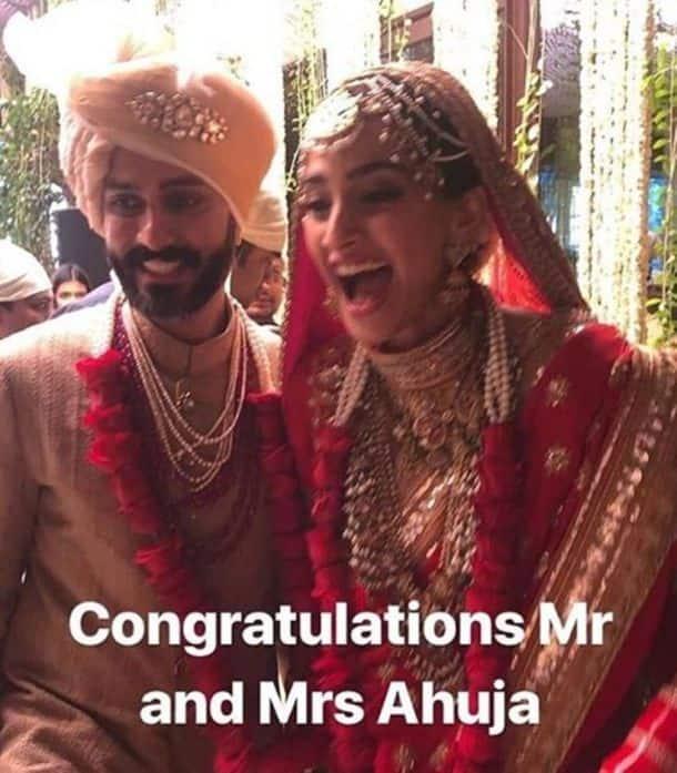 sonam kapoor and anand ahuja wedding ahuja