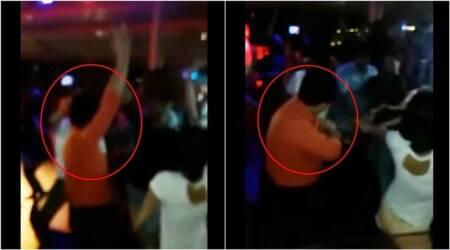 Sourav Ganguly, Sourav Ganguly dance, sourav ganguly dANCe video viral, sourav ganguly viral video dancing in club, Indian express, Indian express news