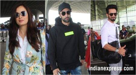 latest celeb spotted photos include ranbir kapoor, dia mirza, shahid kapoor and others