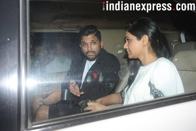 Allu arjun with wife