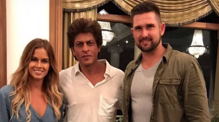 KKR owner Shah Rukh Khan with player Cameron Delport
