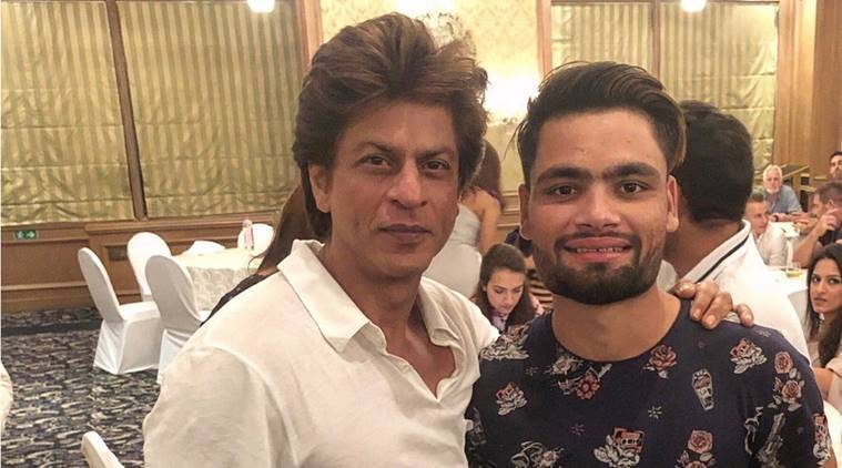 KKR co-owner Shah Rukh Khan with Rinku Singh