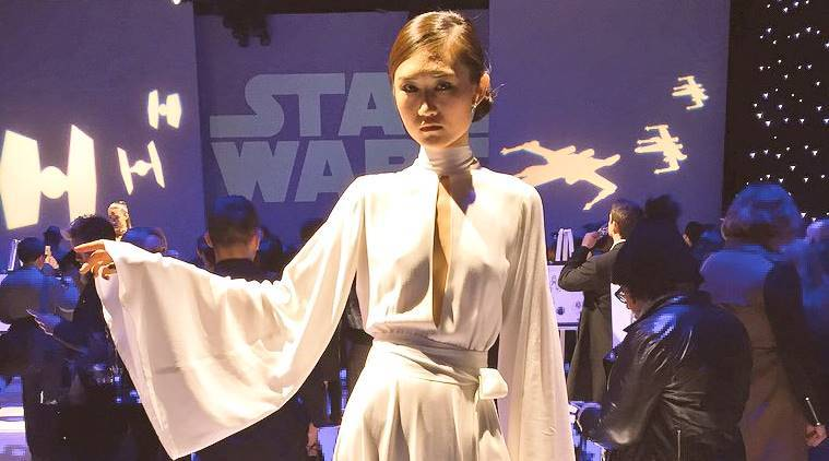 star wars, star wars day, The Force Awakens, STAR WARS THE LAST JEDI, ROGUE ONE, THE EMPIRE STRIKES BACK, star wars fashion, fashion show on star wars, star wars fashion cloths, Indian express, Indian express news