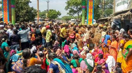 Anti-Sterlite protests in Tuticorin in Tamil Nadu
