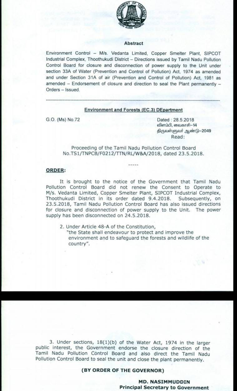 tamil nadu sterlite plant, Tuticorin, Tuticorin protests, anti sterlite protests, sterlite plant closed, tuticorin sterlite plant closed, vedanta plant shut down, sterlite protests supreme court, sterlite plant pollution, Indian express