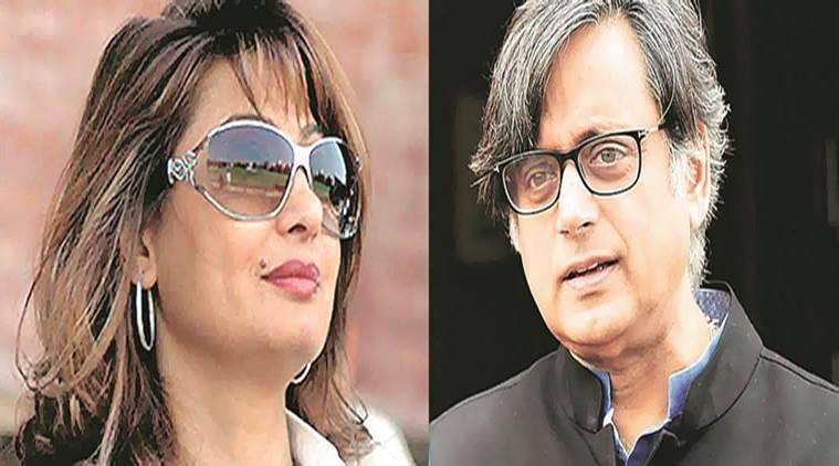 Former Union minister and Congress leader Shashi Tharoor and Sunanda Pushkar.