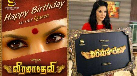 The first look of Sunny Leone's Veeramadevi to be out on May 18