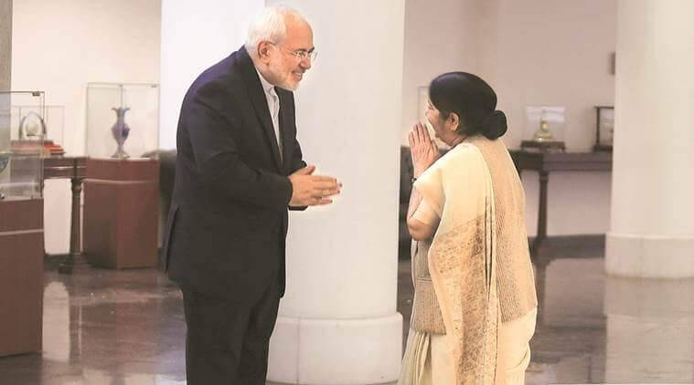 India-Iran relations, Iran oil, sushma swaraj, Javad Zarif, india iran oil, Iran oil waiver, Iran oil sanctions, Iran US India, Chabahar port, indian express