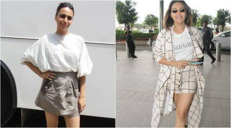 'Veere Di Wedding' promotions: Swara Bhasker's love for ivory hues and mini skirts continues