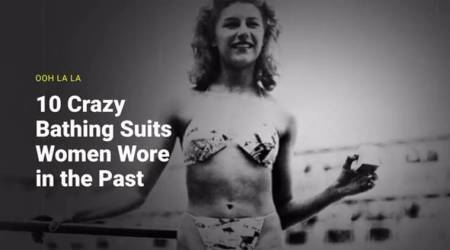 swimsuit evolution, bikini evolution, beach wear history, bikini history, first bikini, beach laws, women fashion history, women fashion evolution, swimsuit history, indian express, indian express news