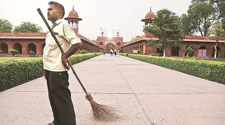Taj sub-circle: 102 | 70 regular staff (conservationists, accountants, data operators), 12 labourers, 16 cleaners and 4 people to man the RO water units. (Express photo/Abhinav Saha)
