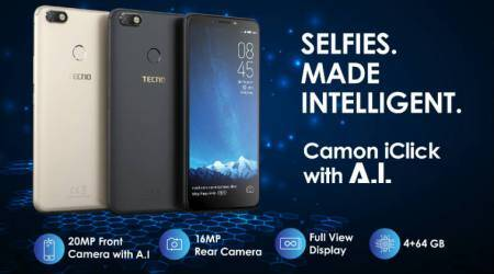 Tecno launches Camon iClick with AI-powered selfie camera at Rs13,999