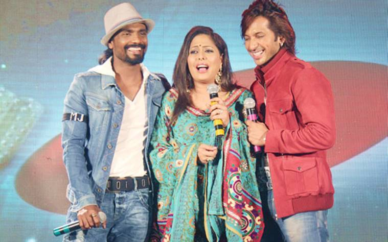 Terence Lewis, Remo D'Souza and Geeta Kapoor