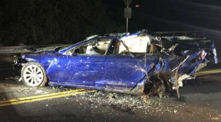 Man dies after Tesla Model S crashes into San Francisco areapond
