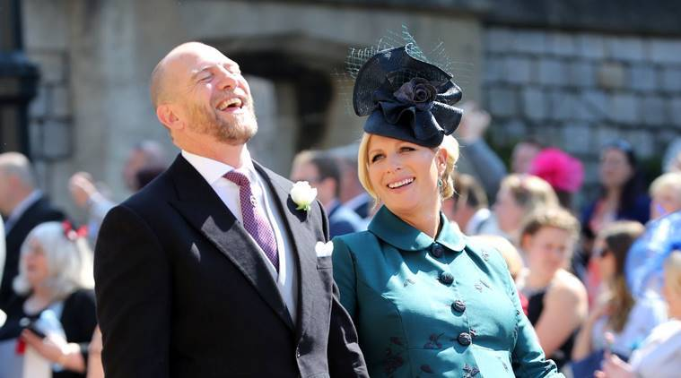 MIke Tindall and Zara Tindall at St George's Chapel at Windsor Castle